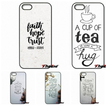 For iPhone 4 4S 5 5C SE 6 6S 7 Plus Galaxy J5 J3 A5 A3 2016 S5 S7 S6 Edge Charming Hand Lettering Quotes Artwork Phone Cover