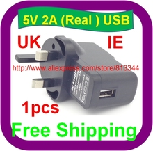 Free shipping UK 5V 2A USB Charger Adapter For Tablet PC Computer Products(China)