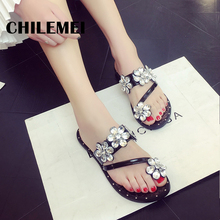 flip flop new set of 2017 summer toe fashion diamond flat sandals female slippers sandals manufacturer wholesale shoes china