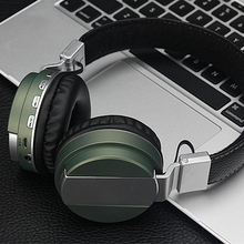 Headphones Bluetooth Headphone Microphone Metal DJ Earphone W/H TF Slot Noise Isolating On Ear Headsets for iPhone/Android