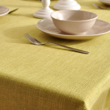 Pure color tablecloth coffee table table cloth linen rectangular tablecloth table mat