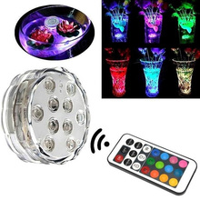 Colorful RGB Remote Controll Led Aquarium Lights 4W SMD3528 10pc LED Coral Reef Grow Light High Power Fish Tank Lamp LED Bulbs(China)