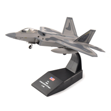 1:100 USA Lockheed Martin F-22 Raptor Model Diecast Alloy Fighter Aircraft Toys Gift