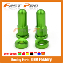 Green MX Rim Lock Covers Nuts Washers Security Bolts For KX125 KX250 KXF250 KXF450 KLX200 KLX250 Motorcycle Motocross Dirt Bike