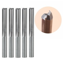 5pcs/lot 6*32MM Carbide Two/Double Flute Straight Slot Router Bit, CNC Carving Engraving Tools, Milling Cutter