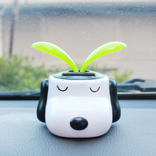 Solar Powered Dog Dancing Flip Flap Swinging Shook His Head For Car Decoration Lovely(China)