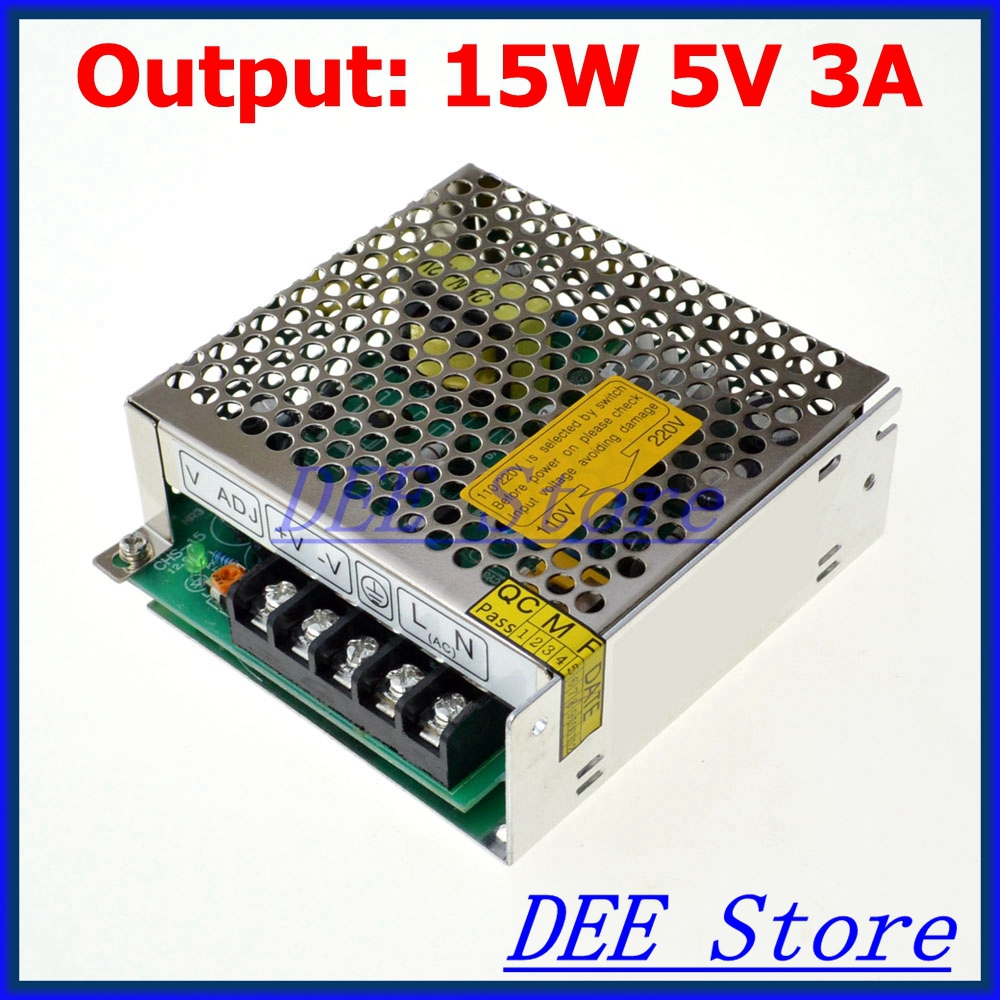 leds-mall LED-15 Led driver 15W 5V 3A Single Output  Adjustable Switching power supply  for LED Strip light  AC-DC Converter<br><br>Aliexpress