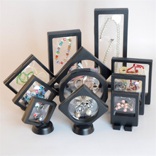 Floating Display Case Stand Holder Box Black Clear Jewelry 1 Pcs Jewelry Display Stand(China)