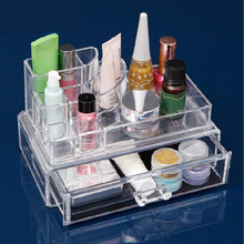 JULY'S SONG 2017 New Makeup Home Office Bedroom Bathroom Plastic PS Organizer Cosmetic Organizer Makeup Storage Drawer Organizer(China)
