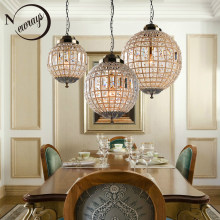 Retro Vintage Royal Empire Ball Style Big Led Crystal Modern Chandelier Lamp Lustres Lights E27 For Living Room bedroom bathroom(China)
