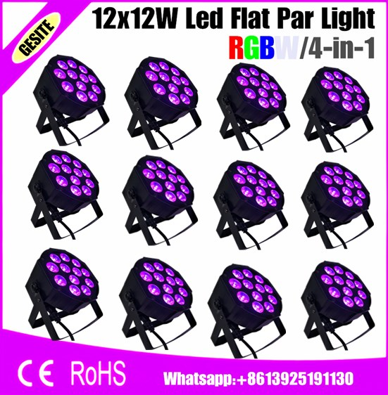 12pcs/lots  12PCS indoor Stage Mini Par64 Led Lighting Lamp RGBW  12x12<br>