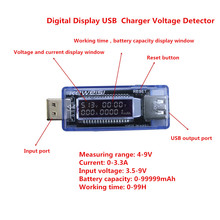 Digital Display USB Charger Doctor Capacity Current Voltage Detector Meter Battery Tester