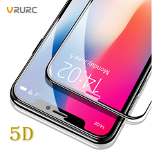 Buy VRURC 5D Full Cover Screen Protector iPhone X Glass Anti Dust 9H Tempered Glass iPhone 6 Glass 7 6S 8 Plus Front Film for $2.96 in AliExpress store