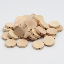 30pcs Natural Wood Beads Jewelry For Baby Puzzle DIY Kids Toys&Pacifier Clip Spacer Beading Wooden Beads