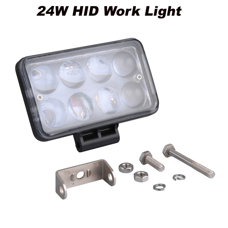 2x 24W 6 LED Work Light HID 4D LENS Spot for Road Boat SUV ATV Truck 4WD<br><br>Aliexpress