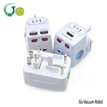 Universal Adapter Plug Socket Converter with Dual USB Electrical Power Adapter US UK AU EU Plug Fuse Protected(China)