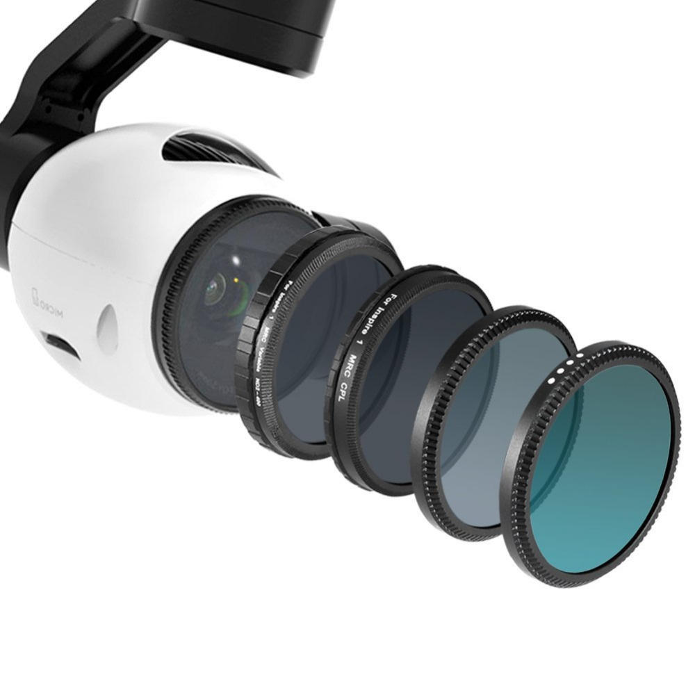 Neewer for DJI OSMO/Inspire1--4 Pieces Filter Kit:UV Filter+CPL Filter+ND16 Filter+ND Fader Adjustable ND2-ND400 Filter<br><br>Aliexpress