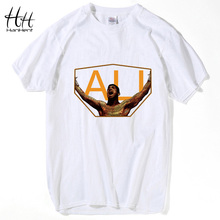 HanHent Champion Muhammad Ali T-Shirts Men Personalized Custom Tee 2016 Summer Short Sleeve Fitness Cotton T shirt(China)
