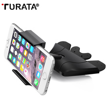 CD Slot Car Holder -TURATA Universal CD Slot Phone Car Mount Holder for iPhone 7 6 Plus 5 Samsung S7 & Other Android Smartphone