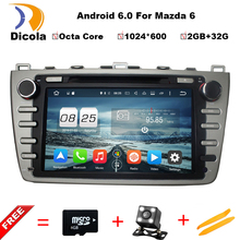 "8"" 1024*600 ROM 32GB Octa Core Android 6.0.1 Car DVD Player Fit Mazda6 Mazda 6 2008-2012 Stereo Radio 3G WiFi GPS Navigation"