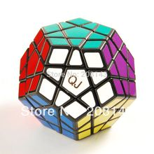 QJ Megaminx Black Magic Cube Brain Teaser Twist Puzzle Toy