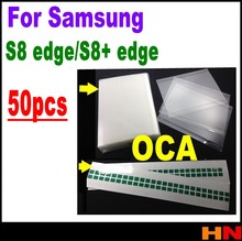 50pcs G9500 G9550 OCA Film Optical Clear Adhesive For Samsung S8 edge S8+ plus Double Side Glue Sticker LCD Repair easy stear(China)