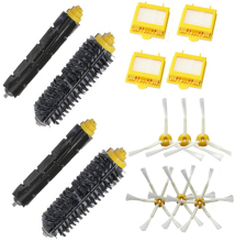 High Quality 2 Bristle & Flexible Beater Brush & 4 Hepa Filter & 6 Side Brush kit for iRobot Roomba 700 Series 770 780 790(China)