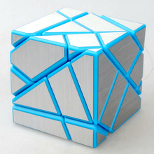 Fangcun 57mm 3x3x3 Ghost Cube Skewb Magic Cubes Speed Puzzle Game Cubes Educational Toys For Kids Children - DIY Sliver Sticker(China)