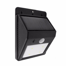 Fashion Triangle 4Led Solar Light Outdoor Solar Garden Light Outdoor Lighting Lights IP65 Motion Sensor luz Solar Powered System(China)