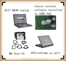 MB Star SD Connect Compact 4 with V2017.12 Software Xentry+DAS+EPC+WIS+DTS+vediamo mb star c4 with Laptop D630 for Mercedes-Ben(China)