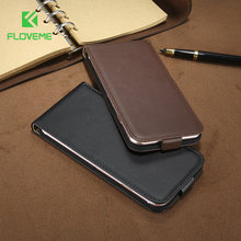 FLOVEME Retro 100% PU Leather Case for iPhone 4 4S 5S 5 SE 6 7 Luxury Vertical Magnetic Flip Phone Bag Cover for iphone 4S 5S(China)
