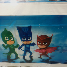 1 Pcs PJ Masks Tablecloth Disposable Cartoon Theme Table Cover Birthday Party Supplies Baby Shower Children Favor Tablecover