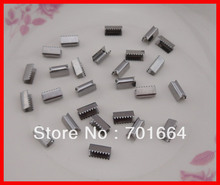200PCS regular quality silver finish 4mm metal snap buttons for elastic ponytail at lead free and nickle free(China)