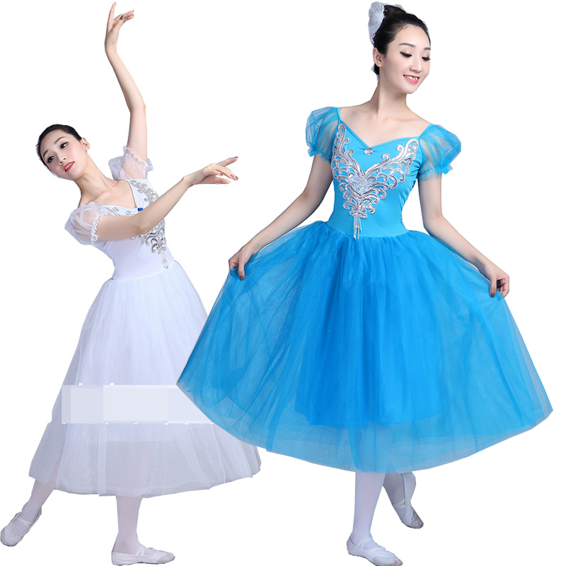 Adult white Swan Lake Tutu dancing dress Women Ballroom Ballet tutu Dance Skirt Stage wear Party dance dress for Female