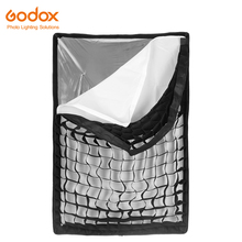 "Godox softbox 60*90cm 24""x 35"" Portable Rectangular Honeycomb Grid Softbox soft box with Bowens Mount for Studio Flash(China)"