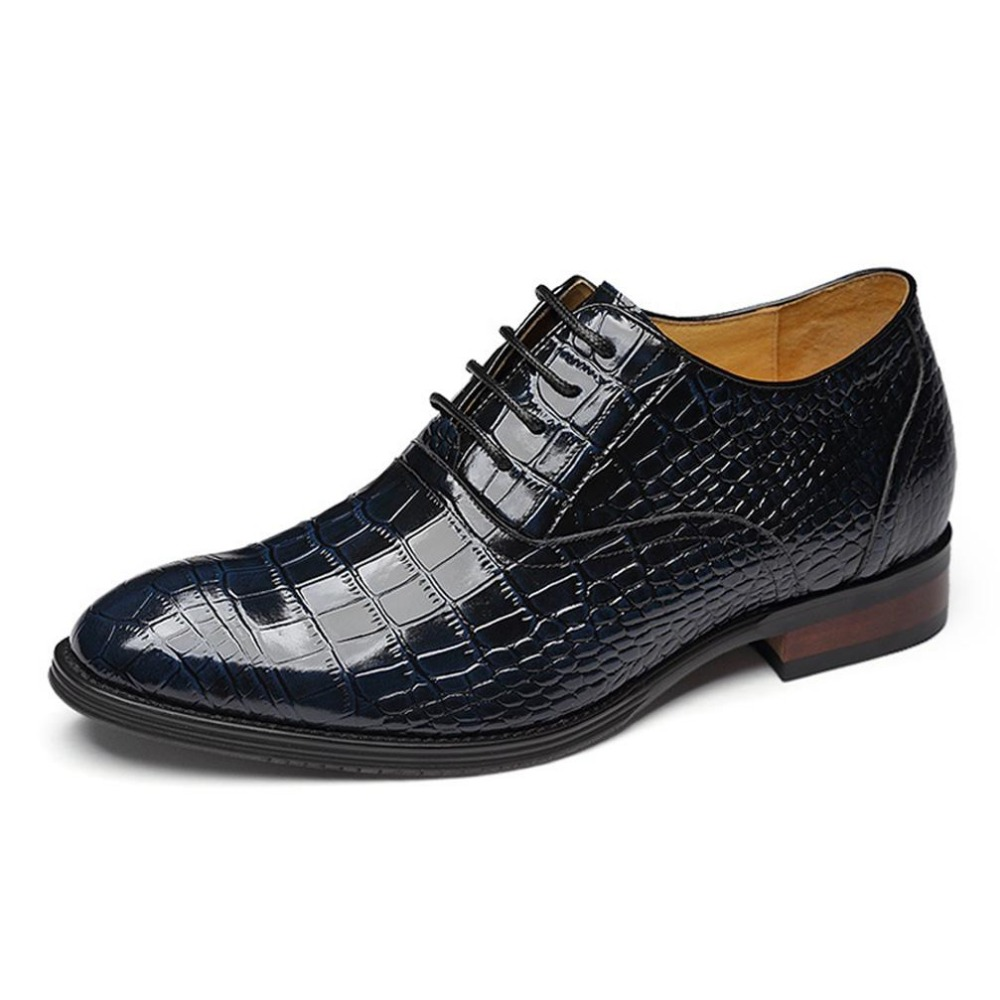 Elevated Shoes Calf Leather Brogue Shoes Man Business Formal Elevator Oxfords Shoes with Hidden Insoles Grow Wedding Taller 7cm<br><br>Aliexpress