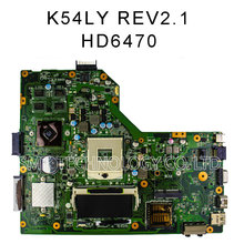90 Days warranty Free Shipping For ASUS motherboard K54LY REV 2.0 or 2.1 HM65 X54HR K54HR X54H laptop Mainboard work perfect