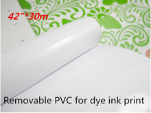 "42""*30m high quality digital printing vinyl rolls with removable glue(China)"