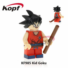 KF985 Super Heroes Dragon Ball Z Figures Black Kid Goku SSJ3 Perfect Cell Bricks Building Blocks Bricks For Children Gift Toys(China)