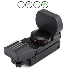 11mm Rail Mount JH400 Holographic Electro Red Green Dot Reflex Sight 4 Reticle Tactical Sight