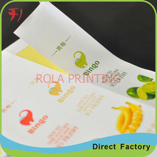 waterproof label sticker for canned honey sealing packing labels(China)