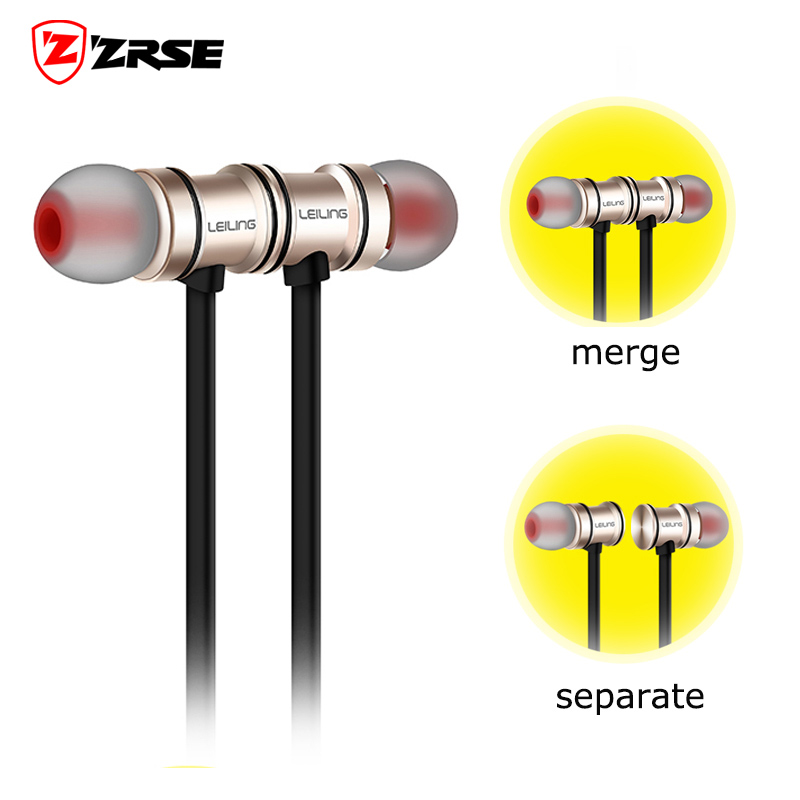 2016 New Magnetic Earphones Bluetooth Wireless Stereo Headset Sport sweat Metal Headset With Microphone for iPhone Smartphone <br><br>Aliexpress