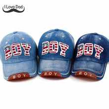 Summer Kids Baseball Cap Baby Boys Girls Snapback Caps bone New Fashion Letter Boy Jean Denim Cap Sun Hat casquette