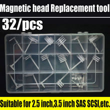 32/pcs Hard drive head replacement tool Hard disk repair tools For the 2.5-inch to 3.5-inch SAS SCSI Seagate Maxtor Samsung...