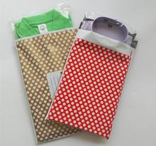 25*39cm Purple Polka dots selfadhesive poly mailer/poly mailing post shipping envelope/ Plastic Express Courier bags