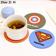 Zhou Zi Xi Cartoon series heroes superman Dining Table Placemat coaster Kitchen Accessories Mat Coffee Cup Bar Mug Drink Pads(China)