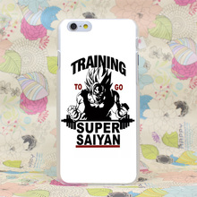 1044HJ Training To Go Super Saiyan Dragon Ball Z Hard Transparent Case Cover for iPhone 4 4s 5 5s SE 5C 6 6s Plus 7 7 Plus