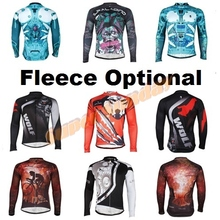 New Arrival Long Sleeve Cycling Jersey Autumn & Winter Cycling Clothes Spring Men's Fleece Jerseys Free Shipping
