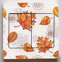 Maple leaves Switch stickers,Leaves Switch Panel Stickers For sitting room bedroom Fashion decor wall decals