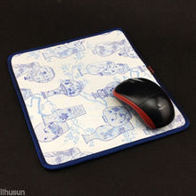 1PCS 22*2cm Chinese Style Handmade Vintage Silk Brocade Rubber White Mouse Pads Mat(China)